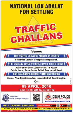 Delhi Police Traffic Challans Advertisement