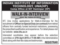 Indian Institute Of Information Technology, UNA Ad