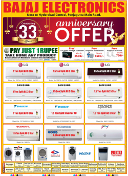 Bajaj Electronics Advertisement