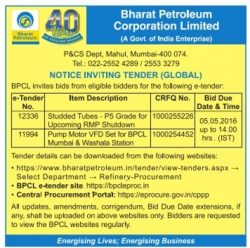 Bharat Petroleum Tender Notice Ad