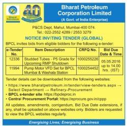 Bharat Petroleum Tender Notice Ad