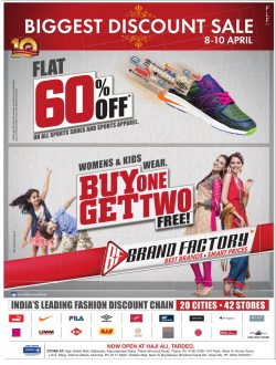 Brand Factory Biggest Discount Sale Advertisement