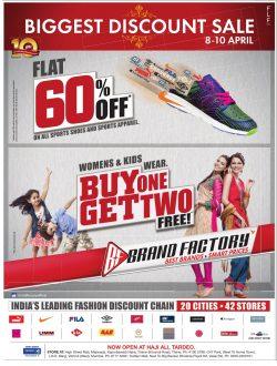 Brand Factory Biggest Discount Sale Advertisement