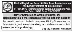 Central Registry of Securitisation Asset Reconstruction and Security Interest of India Tender Ad