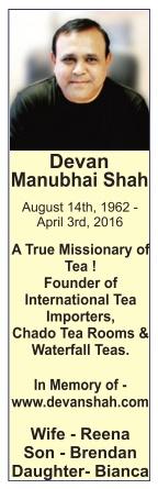 Devan Manubhai Shah Obituary Advertisement