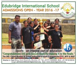 Edubridge International School Admission Open 2016-17 Ad