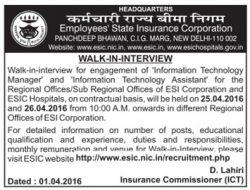 Employees State Insurance Corporation Recruitment Advertisement