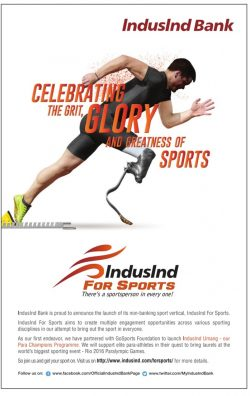 Indusind Bank For Sports Advertisement
