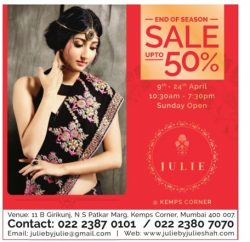 Julie End of Season Sale Advertisement
