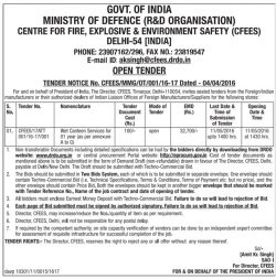 Ministry of Defence R&D Tender Ad