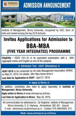 Nirma University Advertisement