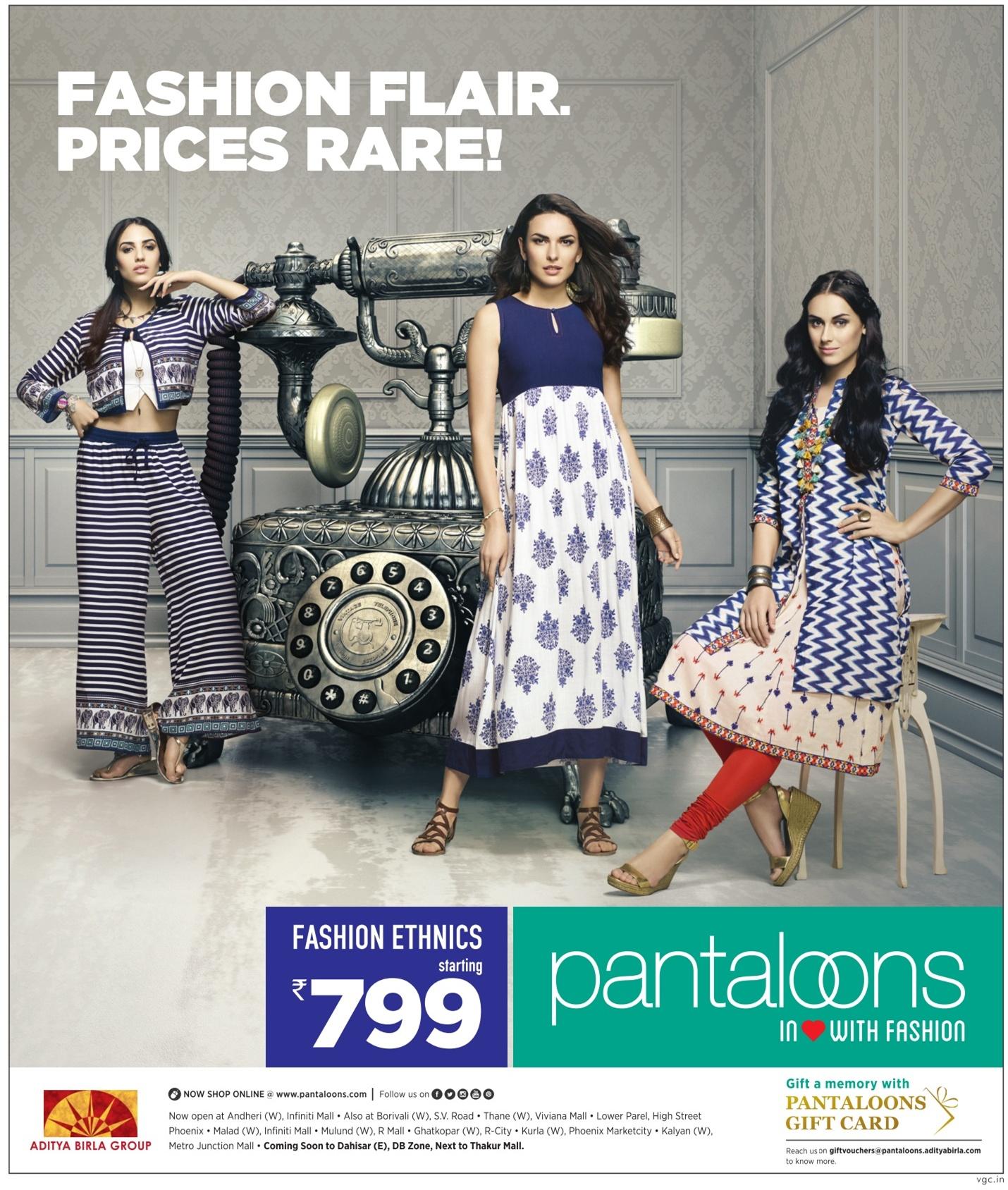 Pantaloons Fashion Ethnics Advertisement