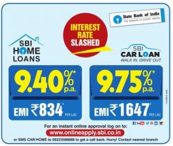 State Bank of India Home Loans Advertisement