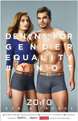 Zoiro Denin Trunks Advertisement