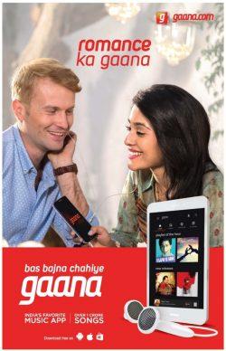 Gaana.com Advertisement in TOI Newspaper
