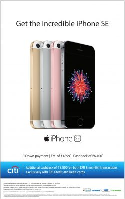Iphone SE Advertisement in Times of India Mumbai
