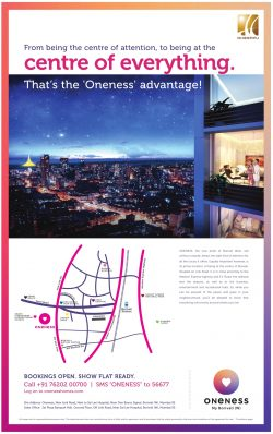 Oneness Flats Advertisement in TOI Mumbai