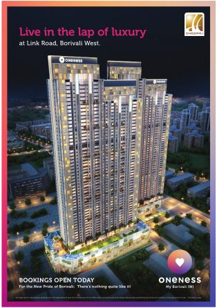 Oneness Luxury Flat Advertisement in TOI Mumbai