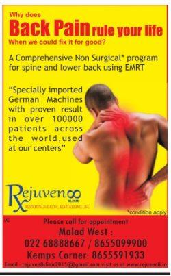 Rejuvenoo Clinic Advertisement in TOI Mumbai
