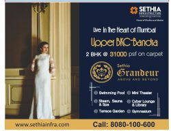 Sethia Grandeur Infrastructure Advertisement in TOI Mumbai