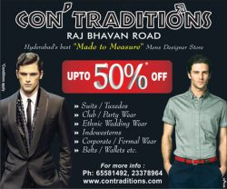 Contradition Clothing Ad in Hindi Milap