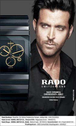 Rado Switzerland (Kamal Watch) Ad in Hindi Milap Newspaper