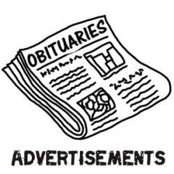 Obituary Advertisement Samples