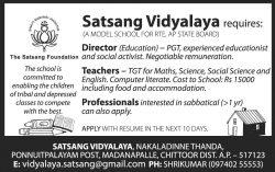 satsang-vidyalaya-chittor-recruitment-ad