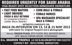 urgently-required-for-saudi-arabia-recruitment-ad-siasat