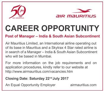 Vacancies in mauritius post