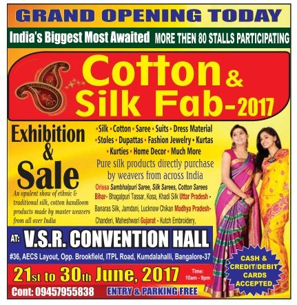 Cotton Silk Fab Exhibition Ad