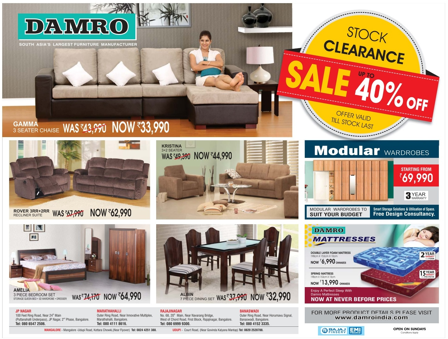 Cherry pick furniture koramangala ad advert gallery Best home furniture in bangalore