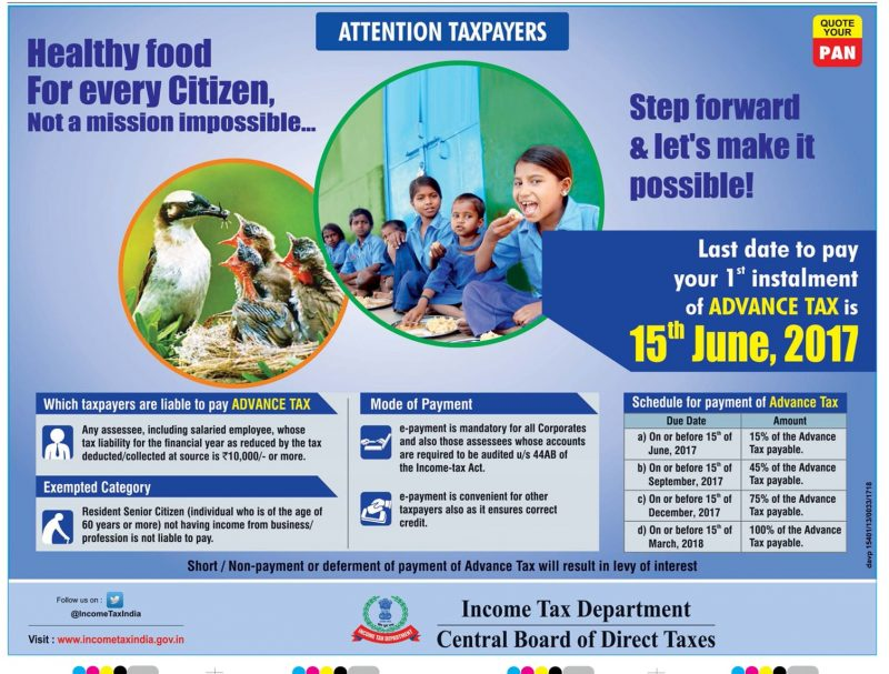 Healthy Food for every Citizen, Not a mission impossible - Income Tax Department Ad