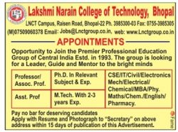 lakshmi-narain-college-of-technology-bhopal-appointments-ad-times-ascent-chennai-12-07-2017