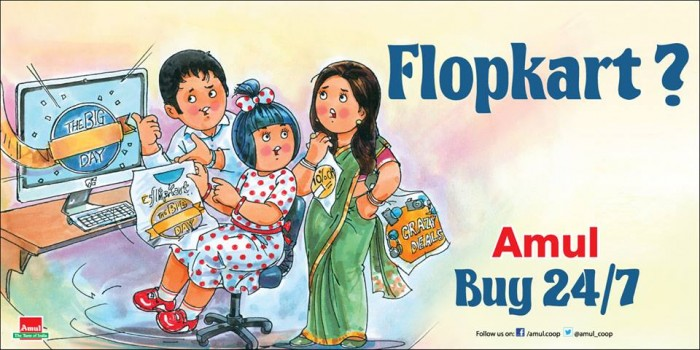 Amul Flopkart Buy 24x7 Advertisement