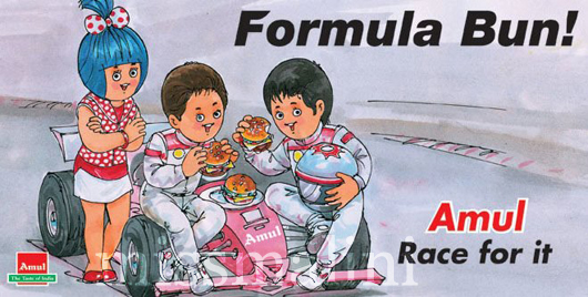 Amul Formula Bun Race For It Advertisement