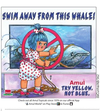 Amul Try Yellow Not Blue Swim Away From This Whale Ad