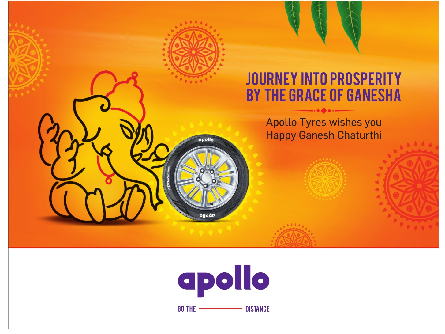 Apollo Tyres Jourey Into Prospertity By The Grace Of Ganesha Ad Advert Gallery