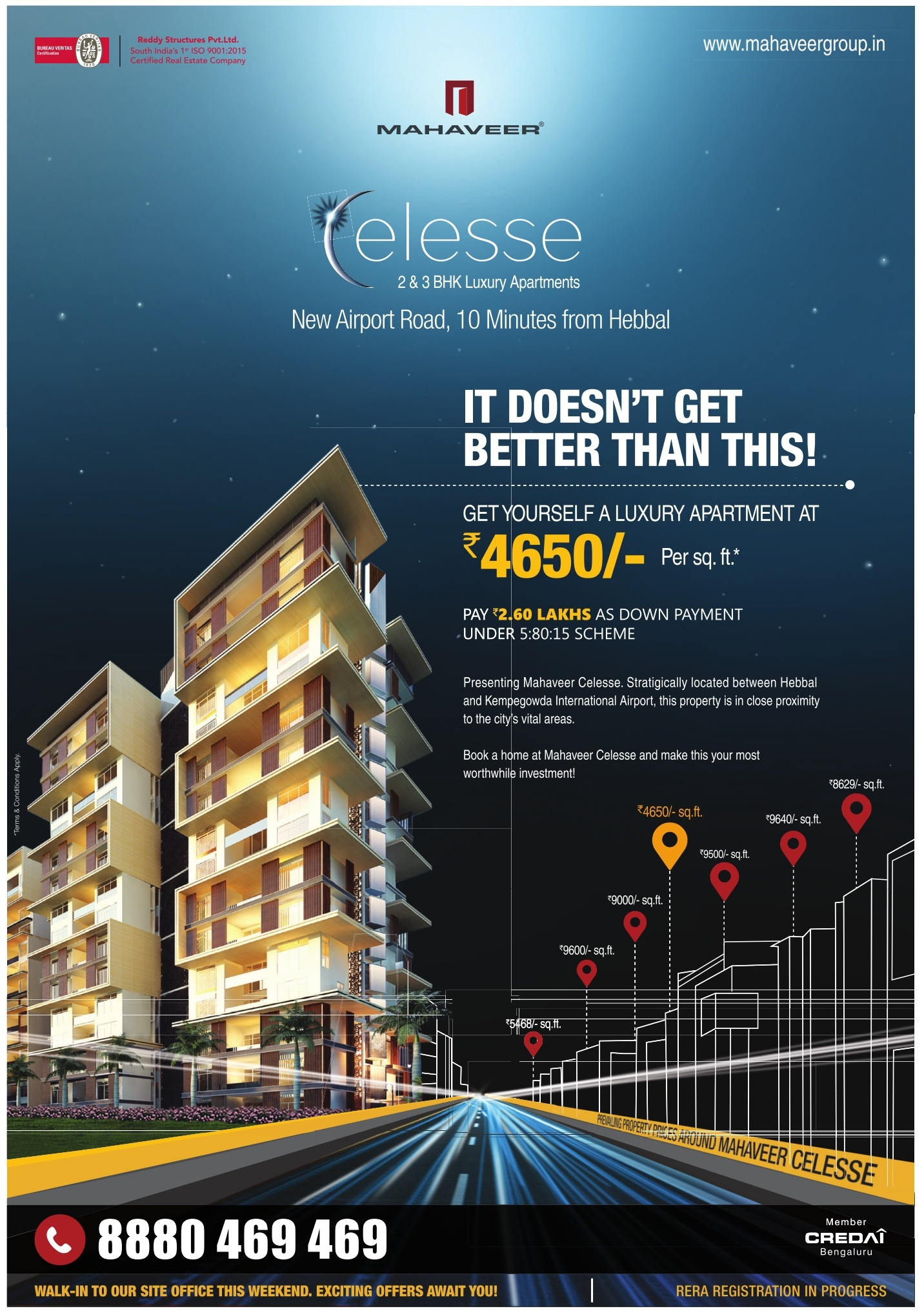 Mahaveer Elesse Luxury Apartments Ad
