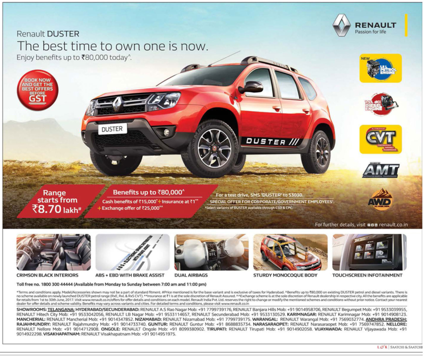 renault duster the best time to own one is now ad advert gallery. Black Bedroom Furniture Sets. Home Design Ideas