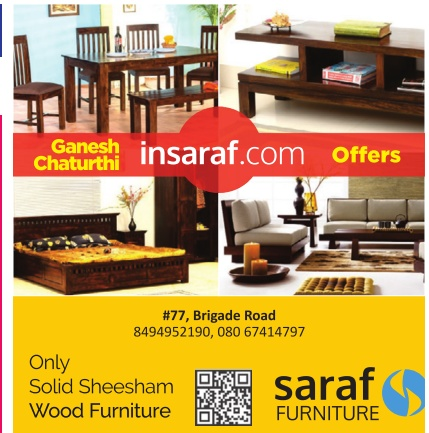 Saraf Furniture Ganesh Chaturthi Offers Ad Advert Gallery