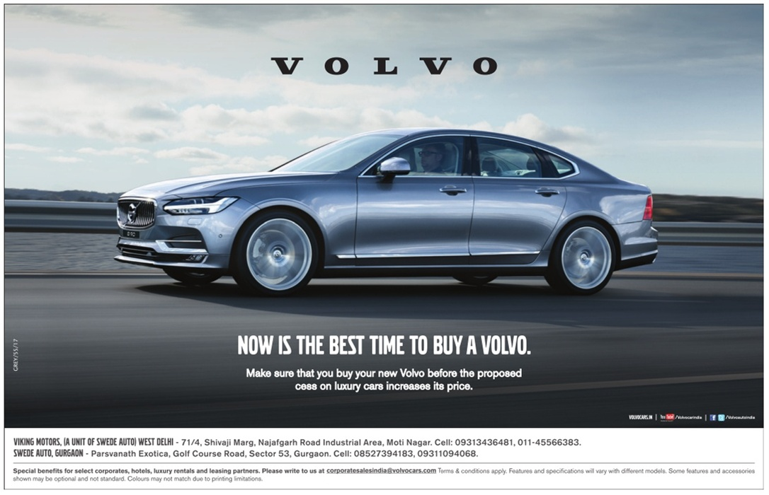 volvo car now is the best time to buy a volvo ad advert gallery. Black Bedroom Furniture Sets. Home Design Ideas