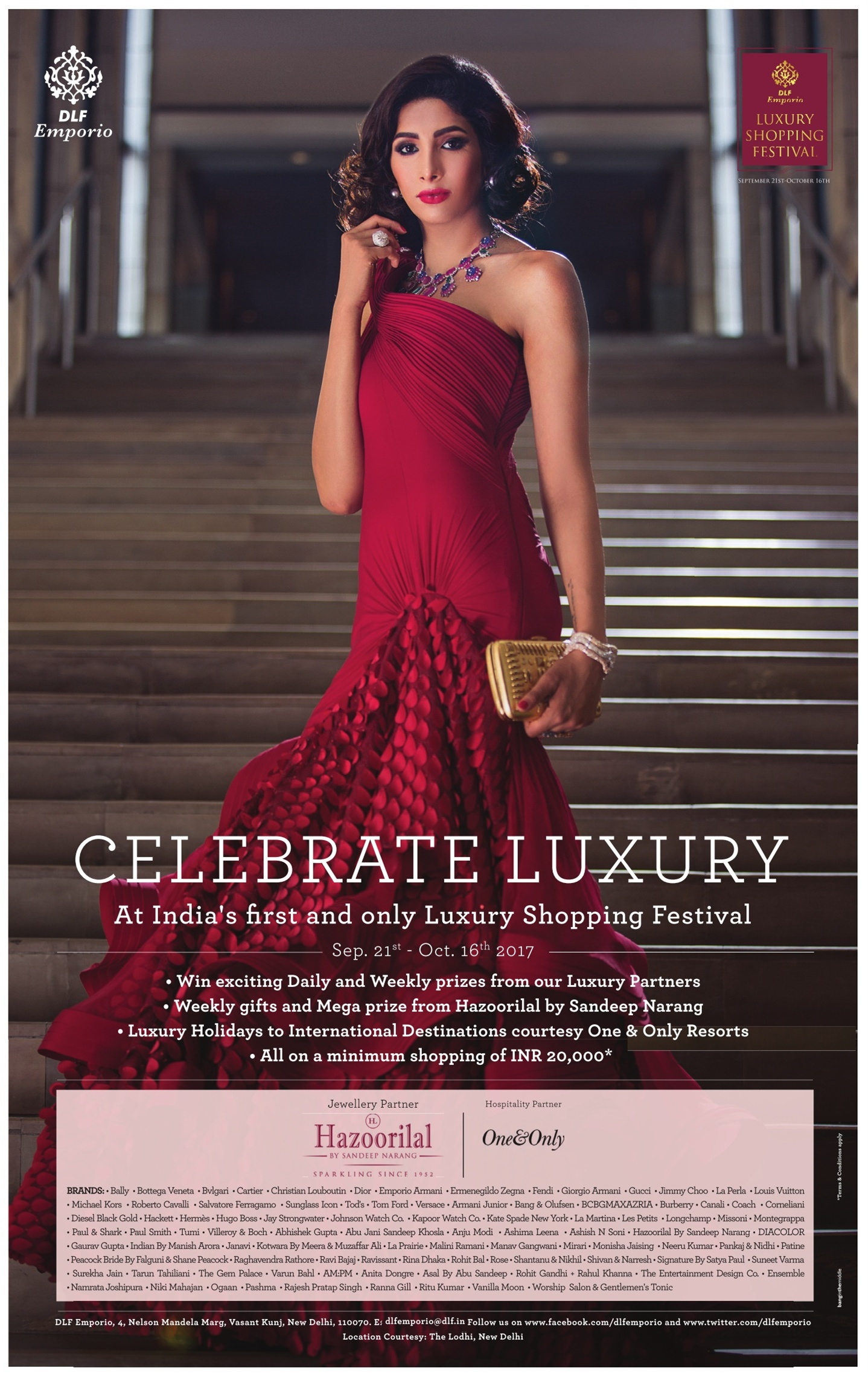 Dlf Emporio Luxury Shopping Festival Celebrate Luxury At Indias First And Only Luxury Shopping Festival Ad