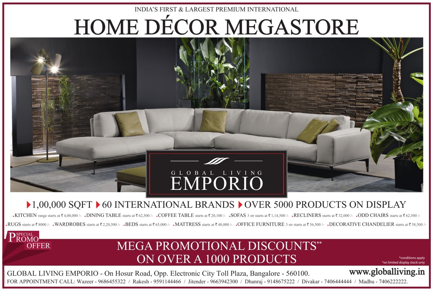 Global Living Emporio Home Decor Mega Store Mega Promotional