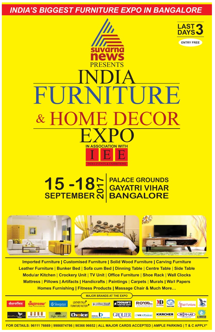 Suvarna News Presents India Furniture And Home Decor Expo