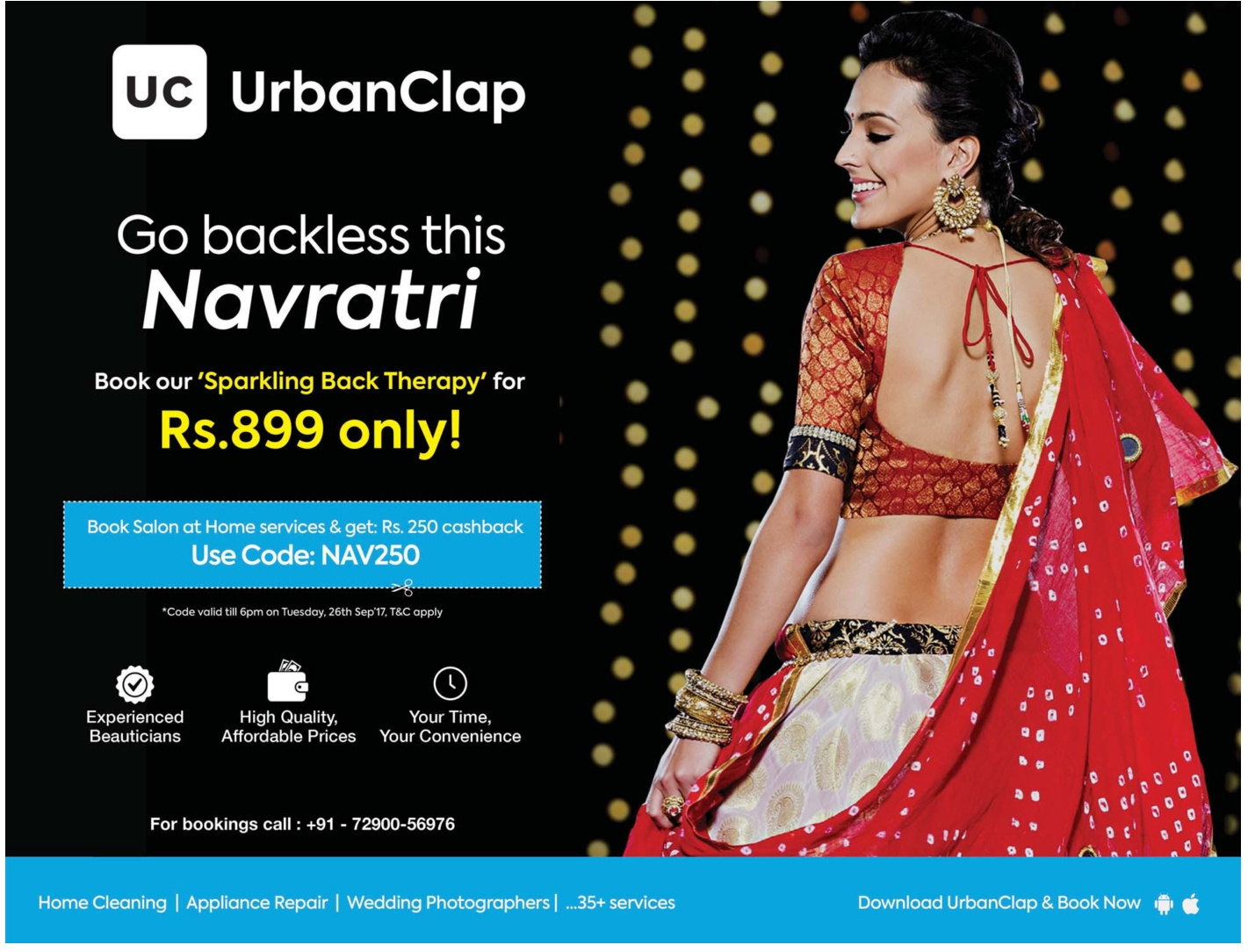 Uc Urban Clap Go Back Less This Navaratri Book Your Sparkling Back