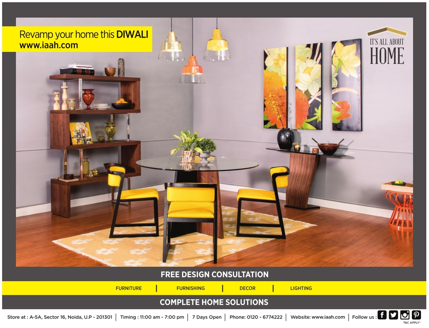 Iaah furniture decor its all about home ad advert gallery for All home decor furniture