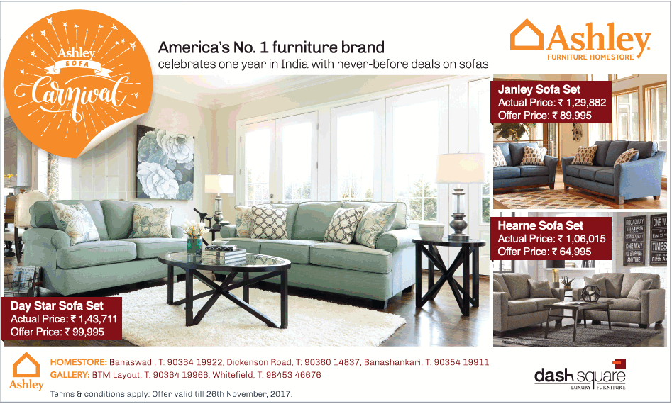 Ashley Furniture Home Store Sofa Carnival Americas No1 Furniture Brand Ad Advert Gallery