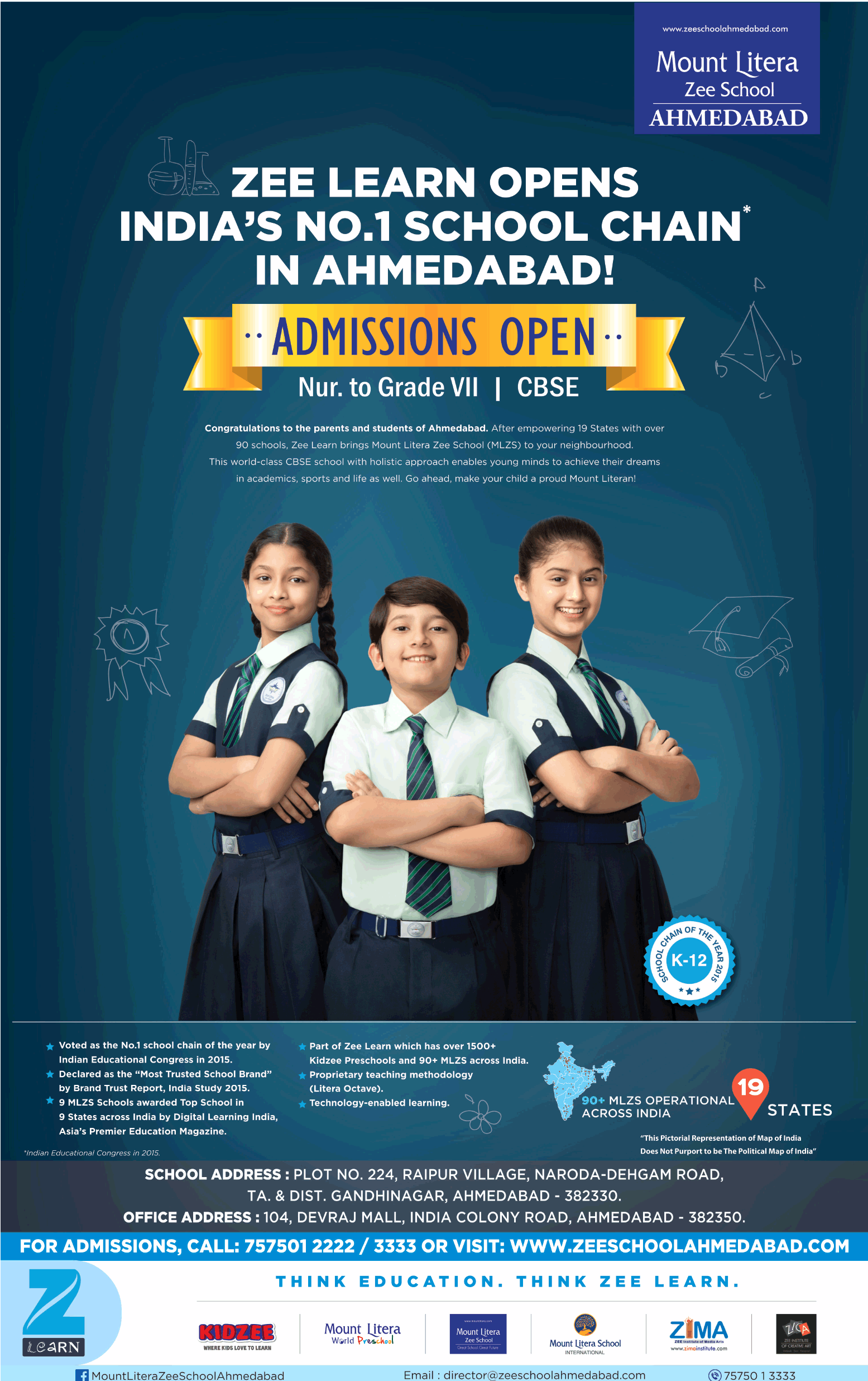 Mount Litera Zee School Ahmedabad Zee Learn Opens Indias No1 School