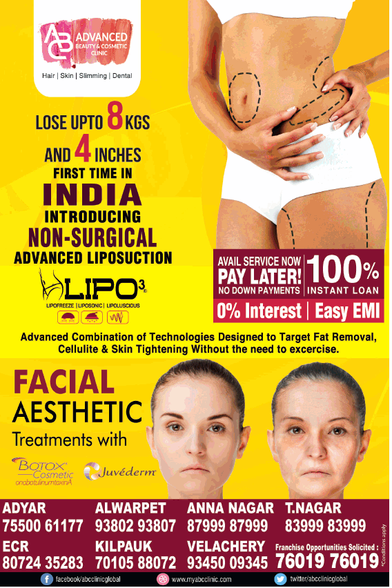 Advances Beauty And Cosmetic Clinic Lose Upto 8 Kgs Ad
